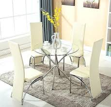 breakfast table and chairs 4 chair glass dining table lesdonheures com