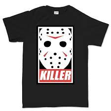 fashion funny tops tees mens jason voorhees killer halloween t