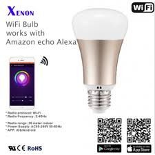 work with amazon echo xenon wi fi smart led light bulb iot at home