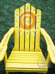 How To Paint An Adirondack Chair Lake Paints Painting Sunny Adirondack Chairs
