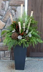 Outdoor Christmas Decorations Rustic by How To Make Your Own Outdoor Holiday Planter Planters Holidays