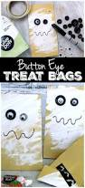 Button Eye Halloween Treat Bags