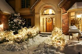 New Year Decoration Lights by New Year Holiday Christmas Nature Christmas Wreath Window