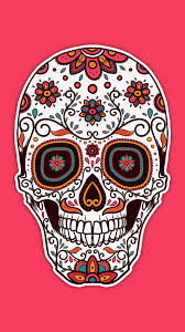 pink sugar skull hd wallpaper for your mobile phone