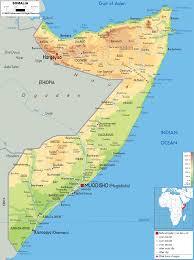 Africa Physical Map Physical Map Of Somalia Ezilon Maps