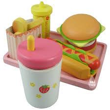 Babies Wooden Toy by Aliexpress Com Compre Baby Toys Morango Hamburger Loja Play Food