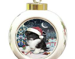 shih tzu ornament etsy