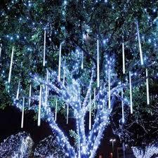 8 tubes 96led meteor shower snowfall star string light xmas tree