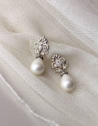 Chandelier Pearl Earrings For Wedding Pearl Bridal Earrings Vintage Style Earrings Wedding Jewelry
