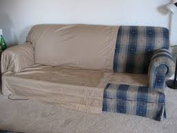 slipcovers for leather sofas covers from two bed sheets and upholstery pins