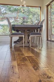 custom scraped hickory floor in cupertino wide plank