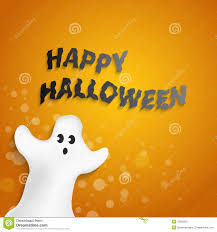 funny ghost shape with happy halloween message royalty free stock