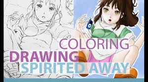 drawing spirited away chihiro coloring speed painting speed