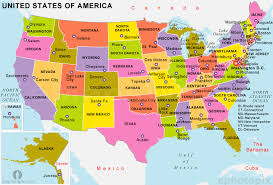 map of us states political united states political map detailed political map of united
