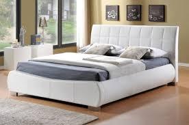 Faux Leather Bed Frames Limelight Dorado 6ft Kingsize White Faux Leather Bed Frame