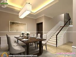 kerala home design staircase classic style interior design for living room stair area and