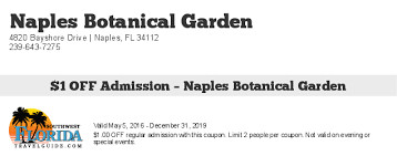 Naples Botanical Gardens Coupons Coupons Southwest Florida Travel