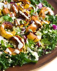 delicata squash quinoa and kale salad recipe