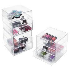amazon com interdesign 3 drawer storage organizer for cosmetics