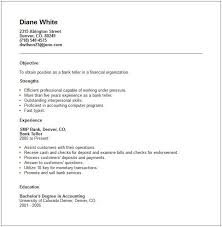 resume templates banking professional bank teller cover letter