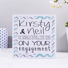 congratulations on engagement card personalised congratulations engagement card by