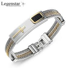 cross bracelet mens images 2017 fashion gold jesus cross bracelet men jewelry stainless steel jpg
