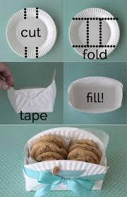 diy paper plate cookie basket video tutorial cookie baskets
