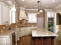 Antique White Cabinets With White Appliances by Inspirational White Kitchens With Granite Taste