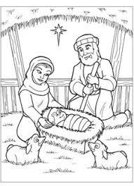 nativity scene coloring sunday craft churches