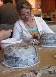 Paper Mache Christmas Crafts - paper mache bowls paste u003d 1 part flour 1 part water diy