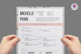 resume c 1 page cv template resume templates creative market