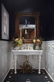 Black And White Powder Room The Most Popular Colors For Powder Rooms Home And Office Painting