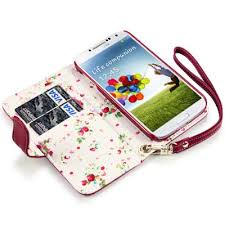 black friday amazon samsung galaxy samsung galaxy s4 premium pu leather wallet case red floral