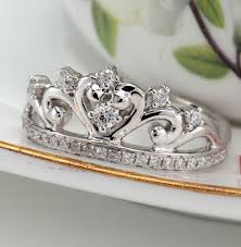 unique engagement rings uk unique princess crown half carat diamond engagement ring in white
