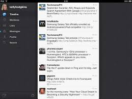 official twitter for ipad debuts and we go hands on