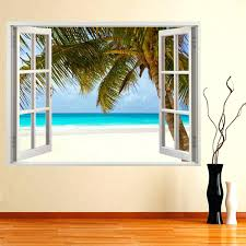 wall arts beach window wall murals hot huge 3d window wall beach window wall murals hot huge 3d window wall sticker tropical beach decal mural wall art vinyl beach window wall mural beach window wall art