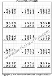 36 best subtraction worksheets images on pinterest subtraction
