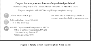 federal register vehicle defect reporting requirements