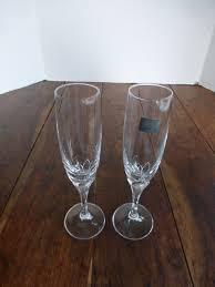 Schott Zwiesel Old Fashioned Glass Vintage Mikasa Schott Zwiesel Crystal Petal Stem Champagne Flutes