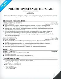 sle resume for phlebotomy with no experience phlebotomy resume sle no experience danaya us