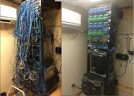 Home Network Closet Design Before And After It U0027s Like Winning The Biggest Loser Cable