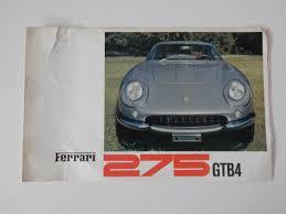 275 gtb for sale uk 275 gtb 4 sales brochure parts