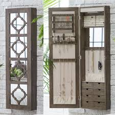 wall mounted jewelry cabinet wall mount jewelry armoire 180