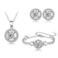 jewelry set aliexpress buy wholesale engagement jewelry set silver color