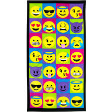 emoji beach towel block walmart com
