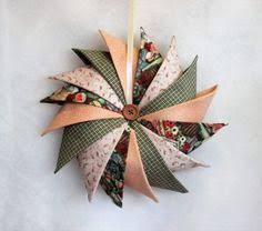 primitive fabric wreath pinwheel fabric wreath folded fabric