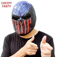 Realistic Scary Halloween Costumes Aliexpress Buy Scary Skull Mask Halloween Realistic