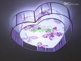 led lighting purple shaped silk l brief modern ceiling