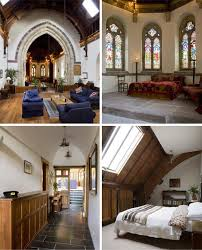 countryside church building converted into luxury home