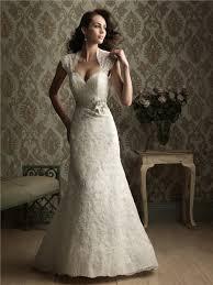 slim mermaid cap sleeve lace wedding dress keyhole open back